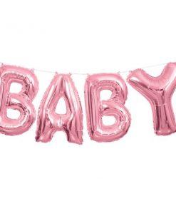 Baby Pink Phrase Balloon Bunting