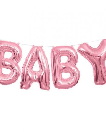 Baby Pink Phrase Balloon Bunting