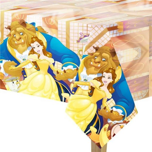Beauty the Beast Party Plastic Tablecover