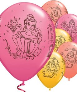Beauty the Beast Party Printed Belle Latex Balloons