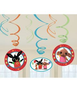 Bing Party Hanging Swirls Decorations