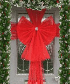 Christmas Standard Red Door Bow