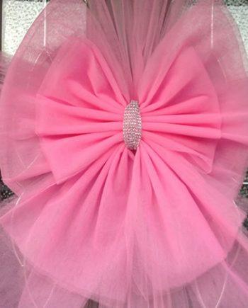 Deluxe Baby Pink Door Bow