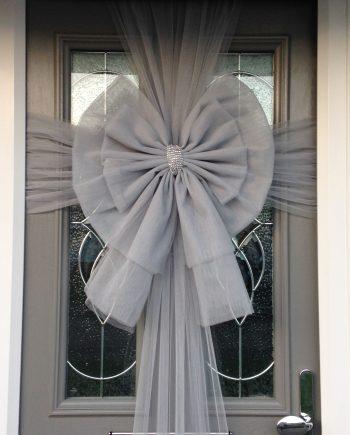 Silver Deluxe Door Bow