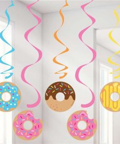 Doughnut Time Party Dizzy Dangler Decorations