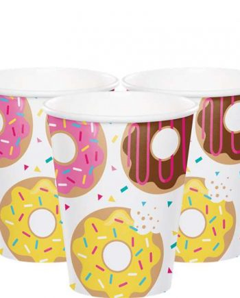 Doughnut Time Party Paper Cups