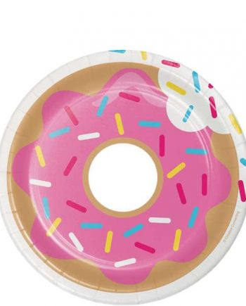 Doughnut Time Party Paper Plates
