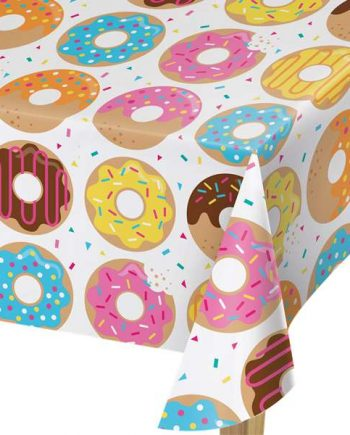 Doughnut Time Party Plastic Tablecover