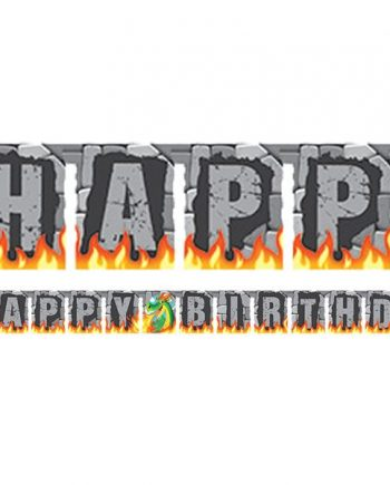 Dragon Party Jointed Happy Birthday Banner