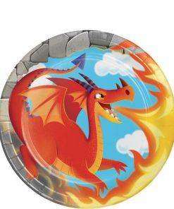 Dragon Party Paper Dessert Plates