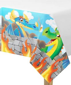 Dragon Party Plastic Tablecover