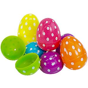 Easter Polka Dot Fillable Eggs