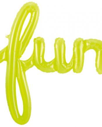 Green Fun Phrase Balloon