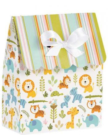 Happi Jungle Party Favour Bags with Ribbons