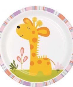 Happi Jungle Party Giraffe Paper Plates