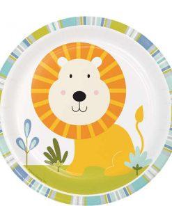 Happi Jungle Party Lion Paper Plates