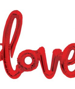 Love Red Phrase Foil Balloon