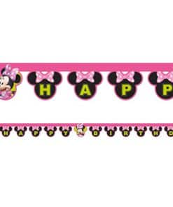 Minnie Mouse 'Happy Birthday' Die-Cut Banner