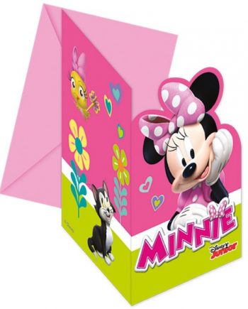 Minnie Mouse Happy Helpers Party Die-Cut Invitations & Envelopes