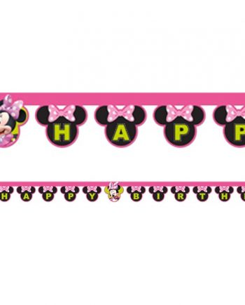 Minnie Mouse Happy Helpers Party 'Happy Birthday' Die-Cut Banner