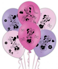 Minnie Mouse Printed Latex Balloons