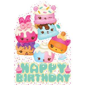 Num Noms Party Birthday Card