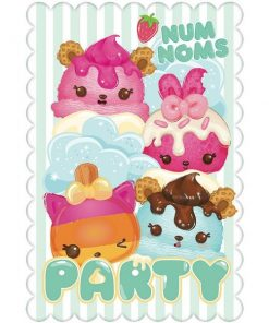 Num Noms Party Postcard Invitations