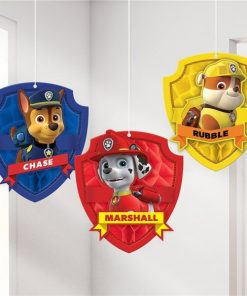 Paw Patrol Party Honeycomb Hanging Decorations
