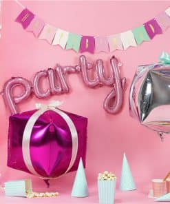 Pink Party Phrase Foil Balloon