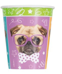 Pug Puppy Paper Party Cups