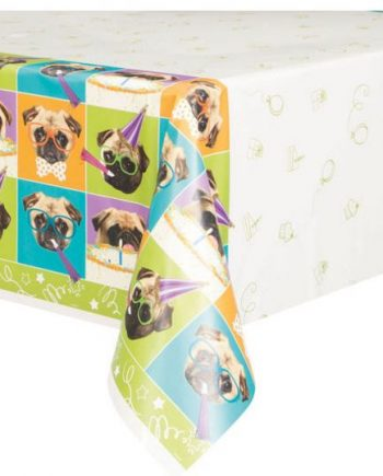 Pug Puppy Plastic Party Tablecover