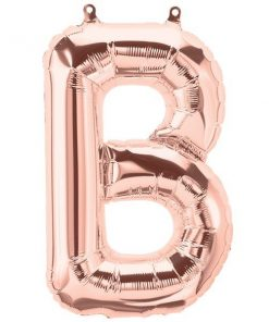 Rose Gold Letter B Foil Balloon
