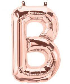 Rose Gold Letter B Foil Balloon