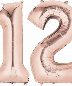 Rose Gold Number Foil Balloons