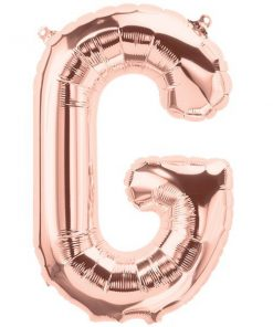 Rose Gold Letter G Foil Balloon