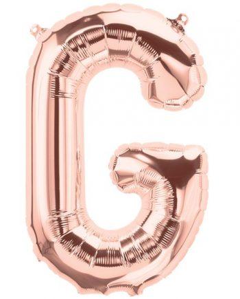 Rose Gold Letter G Foil Balloon
