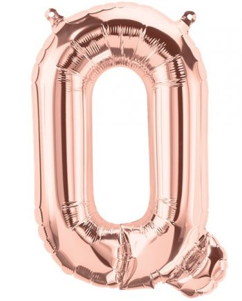Rose Gold Letter Q Foil Balloon