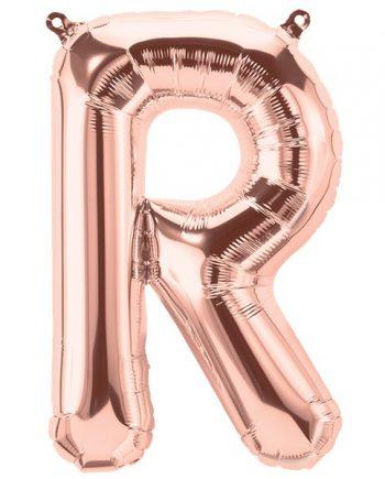 Rose Gold Letter R Foil Balloon