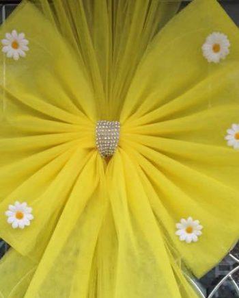 Spring Daisy Deluxe Door Bow