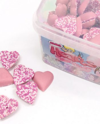 Strawberry Hearts Sweets Tub