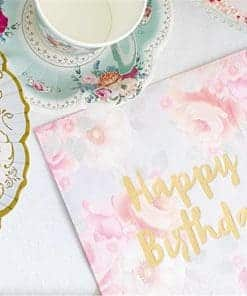 Truly Scrumptious Vintage Happy Birthday Paper Napkins