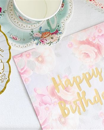 Truly Scrumptious Vintage Happy Birthday Paper Napkins