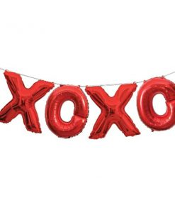 XOXO Red Phrase Balloon Bunting