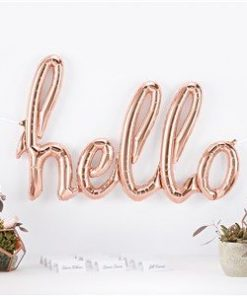 Rose Gold Phrase 'Hello' Foil Balloon