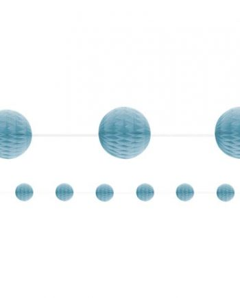 Baby Blue Honeycomb Garland Decoration