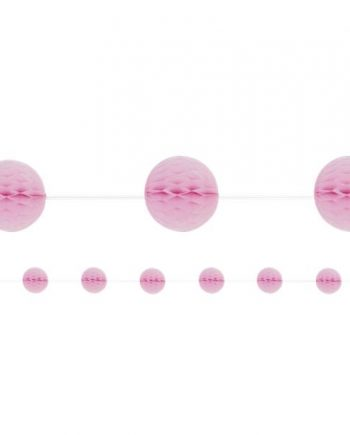 Baby Pink Honeycomb Garland Decoration