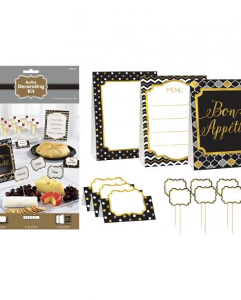 Black Buffet Decorating Kit