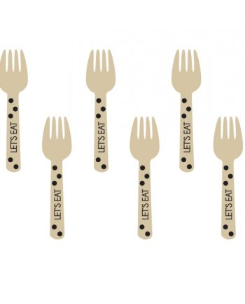 Black Buffet Mini Wooden Forks