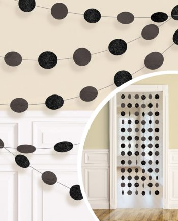 Black Glitter Hanging String Decorations