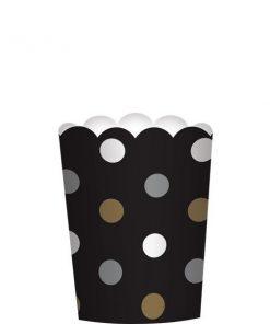 Black Mini Scalloped Food Cups